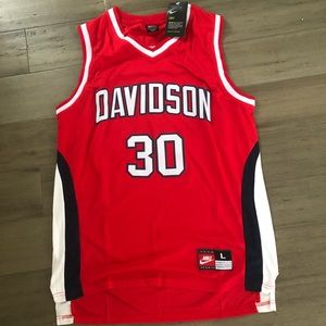 Steph Curry college Davidson jersey